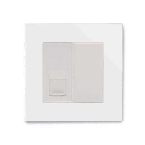 RetroTouch Single RJ11 Phone Socket White Glass PG 04092